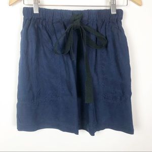 Steven Alan indigo dyed skirt